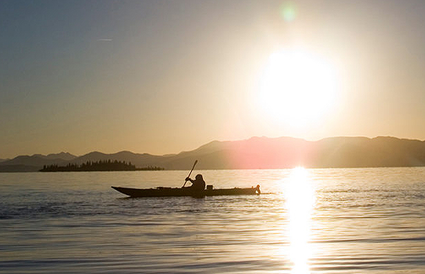 Yellowstone Lake Sunset Paddle